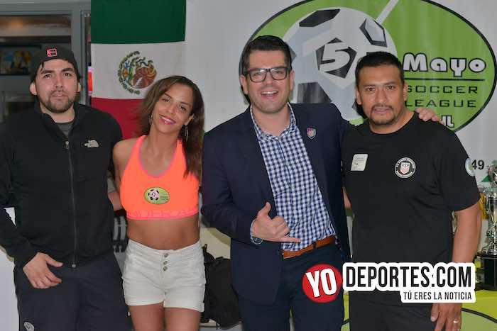 Omar Ramos-Arbitro Alvaro Cortina-Guillermo Caballero-Red Fire-Deportivo Morelos-Liga 5 de Mayo-Final Mayor