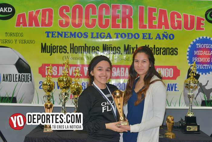 Priscila Rodriguez campeona goleo-Chicago Flash-Atletico L-AKD Soccer League