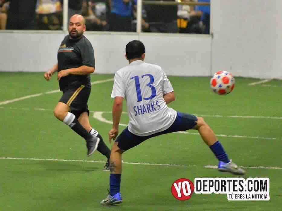 Sharks-Los Temerarios-Chitown Futbol final veteranos-Chicago