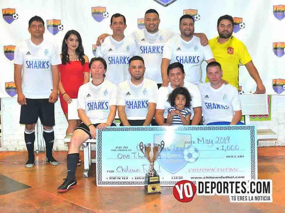 Sharks-Los Temerarios-Chitown Futbol final veteranos jueves