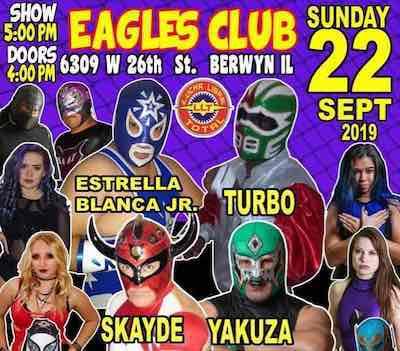 Estrella Blanca Jr y Turbo inauguran temporada de luchas en Chicago