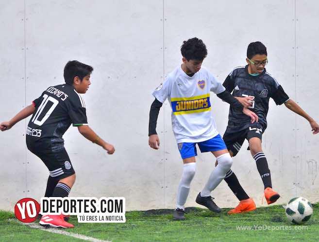 Boca Jrs. consigue ganarle al Deportivo Morelos en la Douglas Kids