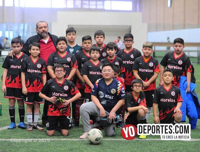 Deportivo Morelos cosecha buena jornada en la Douglas Kids de los sábados