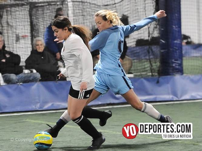 Tercer triunfo consecutivo de las Panas FC en la liga Club House femenil