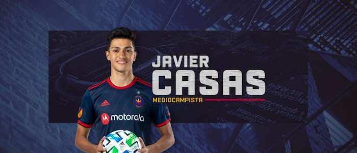 Javier Casas es segundo jugador de 16 años y tercer menor de edad firmado por el Chicago Fire FC