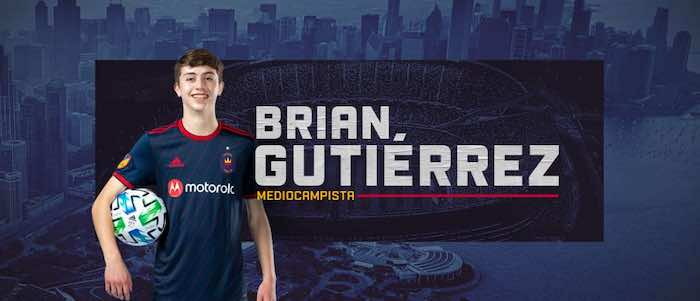 Con apenas 16 años de edad Chicago Fire FC firma a Brian Gutiérrez de Berwyn