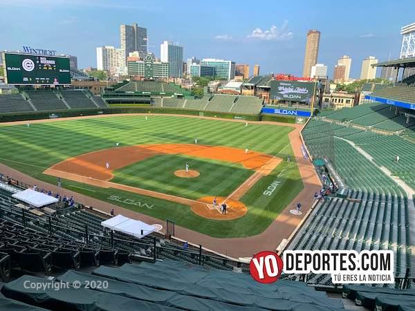 """""""Ruidoso"""" duelo entre Kyle Hendricks y Yu Darvish con el Wrigley Field vacío"""