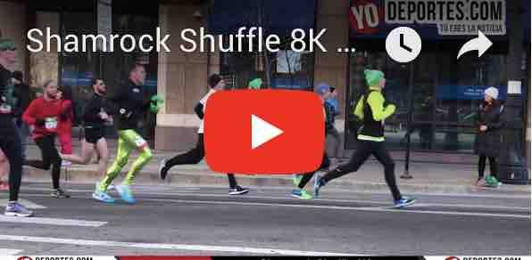 Final de fotografía en el Shamrock Shuffle 8K en Chicago